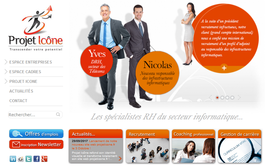 Site Internet Projet Icône 2013